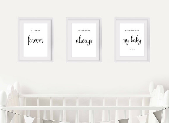 Birth Announcement Nursery Wall Art