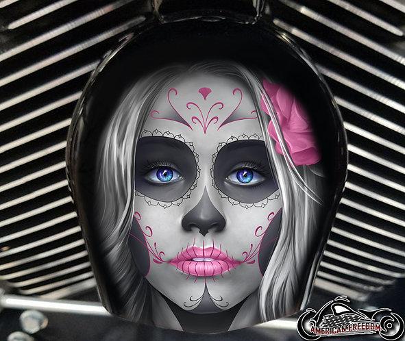 Day of dead sugar skull Pink (HORN)