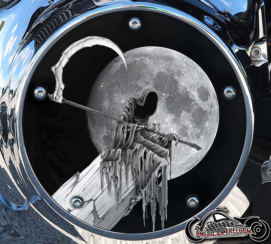 REAPER PERCHED BY THE MOON