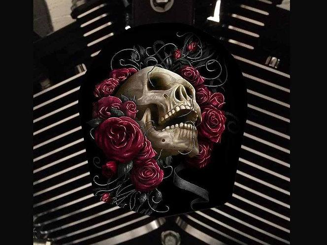 SKULL IN ROSES (HORN)