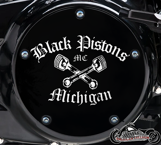 Kenneth- Black Pistons 5Hole Derby & 5Hole Timing Covers