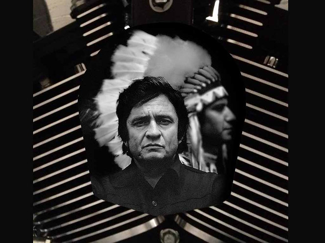 JOHNNY CASH & INDIAN (HORN)