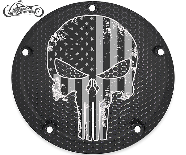 PUNISHER AMERICAN FLAG ( BLACK & WHITE)
