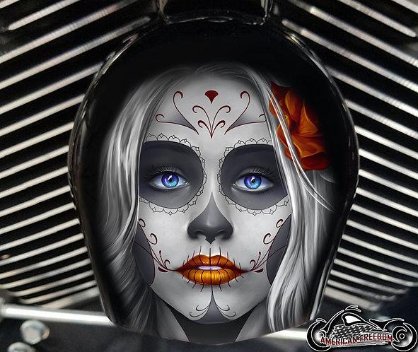 Day of dead sugar skull Orange (HORN)