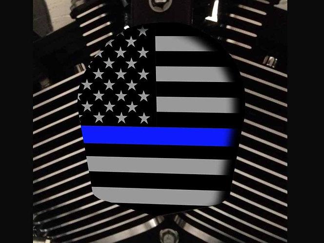 THIN BLUE LINE AMERICAN FLAG (HORN)