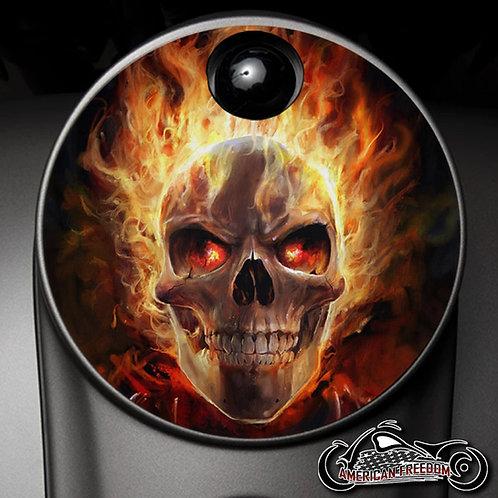 FLAMING GHOST RIDER SKULL (FUEL DOOR)