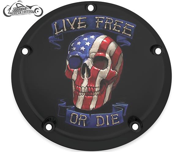 LIVE FREE AMERICAN SKULL