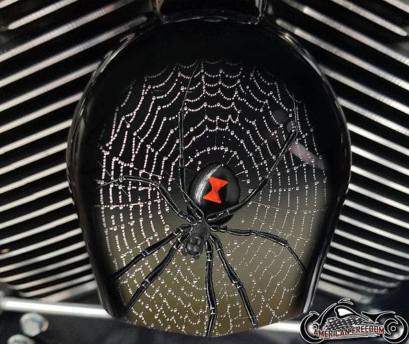 BLACK WIDOW SPIDERWEB (HORN)