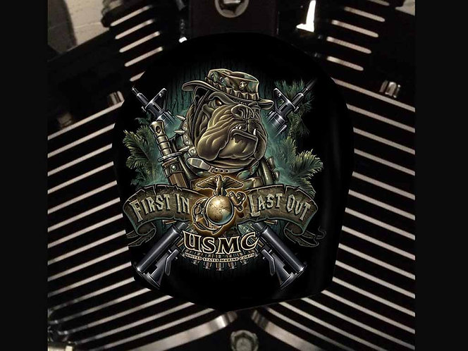 USMC CAMO BULLDOG (HORN)
