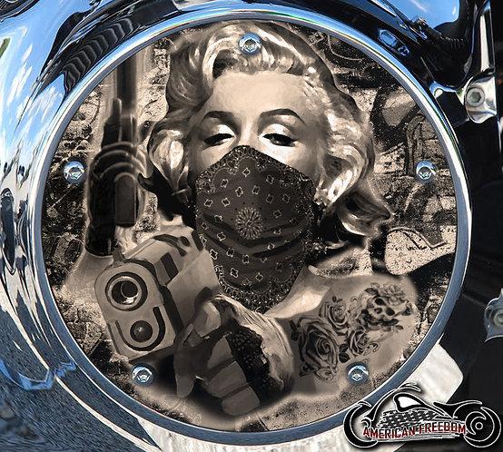 Marilyn Guns Sepia Tone