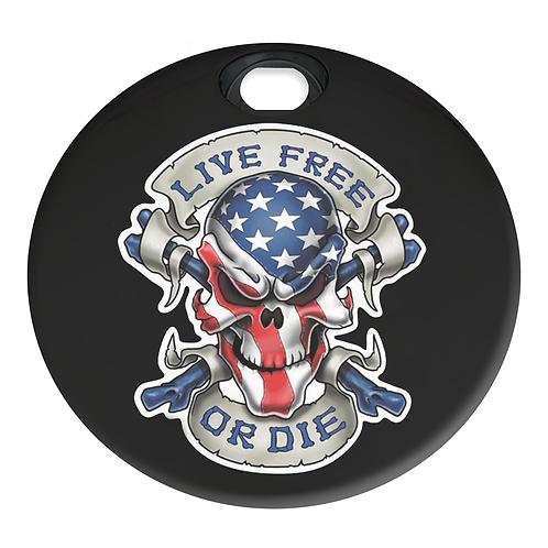 AMERICAN LIVE FREE SKULL (FUEL DOOR)