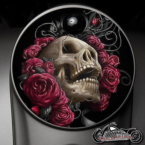SKULL IN ROSES (FUEL DOOR)