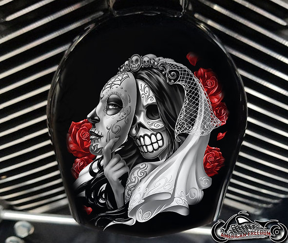 DAY OF THE DEAD MASK (HORN)