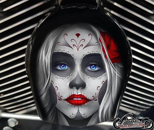 Day of dead sugar skull Red (HORN)