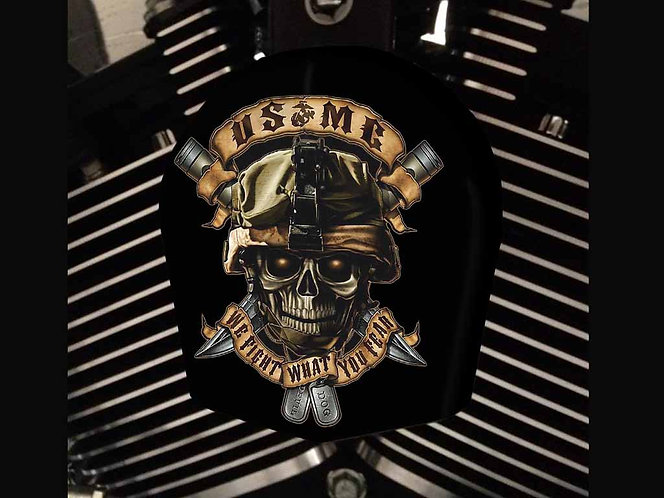 USMC SKULL (HORN)