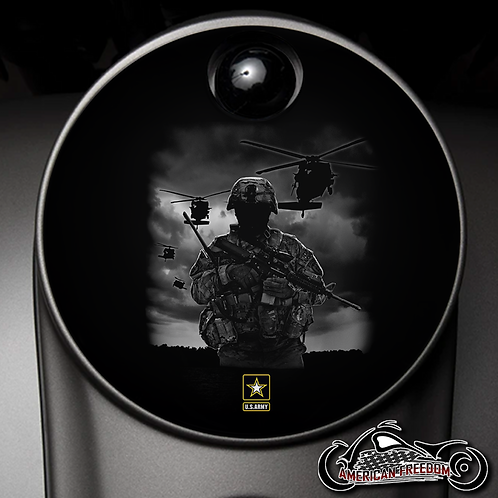 ARMY SOLDIER & HELICOPTERS (FUEL DOOR)