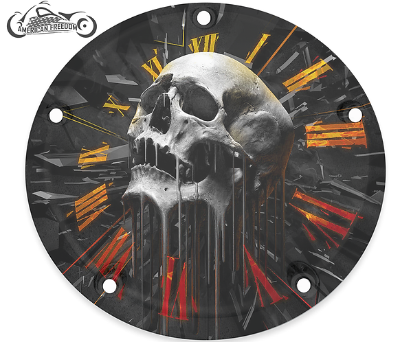 SKULL CLOCK (ORANGE)