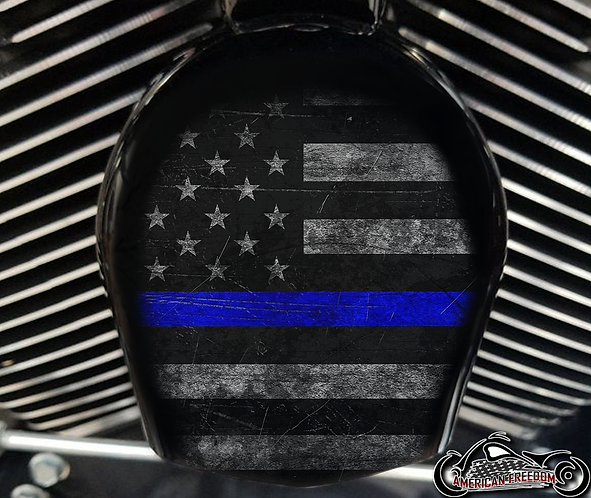 DISTRESSED THIN BLUE LINE (HORN)