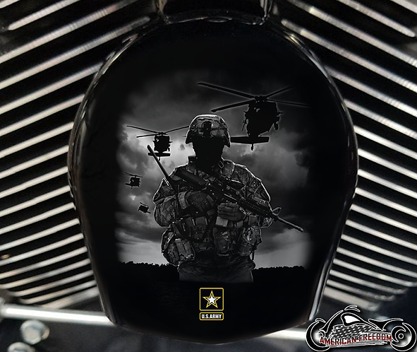 ARMY SOLDIER & HELICOPTERS (HORN)