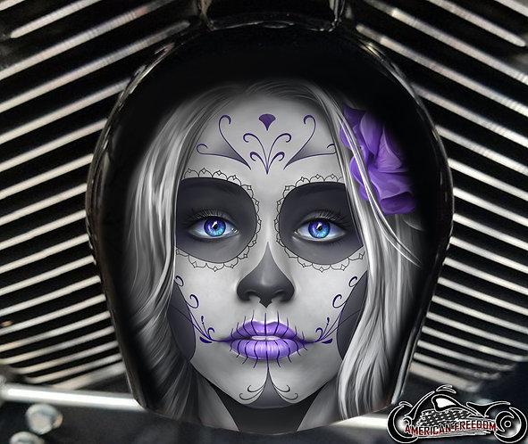 Day of dead sugar skull Purple (HORN)