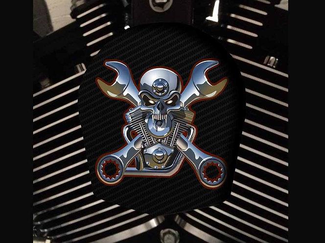 STEEL ENGINE SKULL (HORN)
