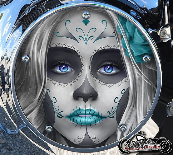 DAY OF THE DEAD SUGAR SKULL TEAL