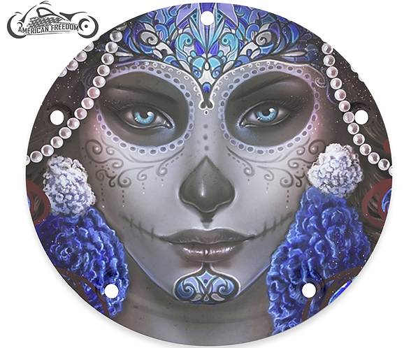 BLUE PEARLS SUGAR SKULL