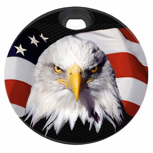 AMERICAN FLAG & EAGLE (FUEL DOOR)