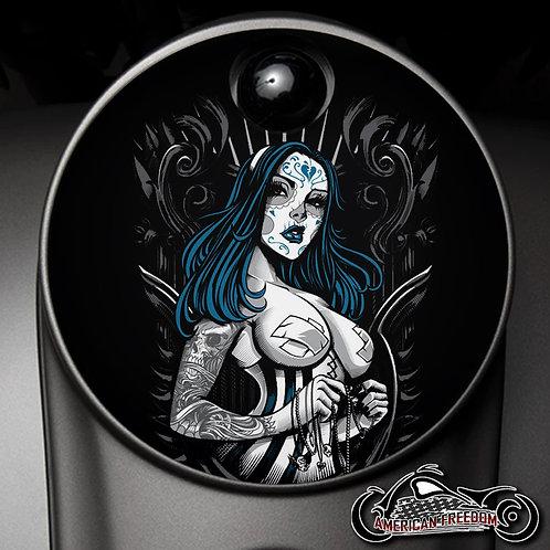 BLUE DAY OF THE DEAD GIRL (FUEL DOOR)