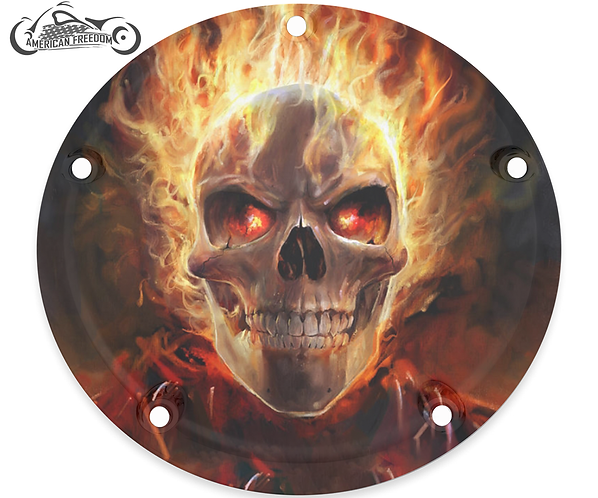 FLAMING GHOST RIDE SKULL