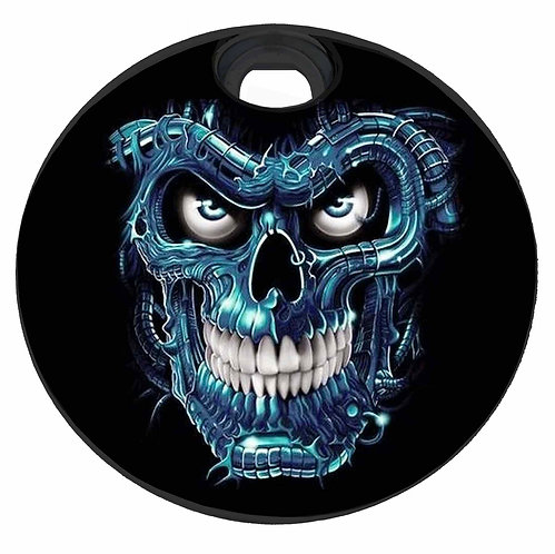 BLUE METAL SKULL (FUEL DOOR)