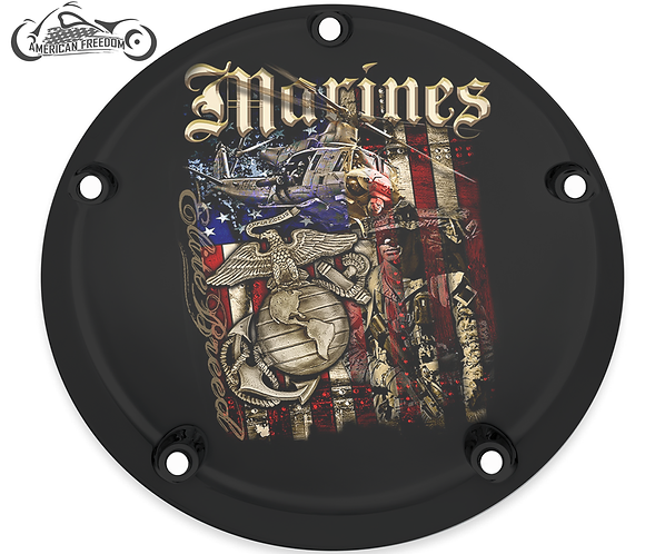 MARINES DISTRESSED FLAG