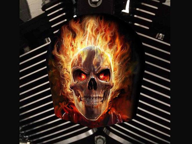 FLAMING GHOST RIDER SKULL (HORN)
