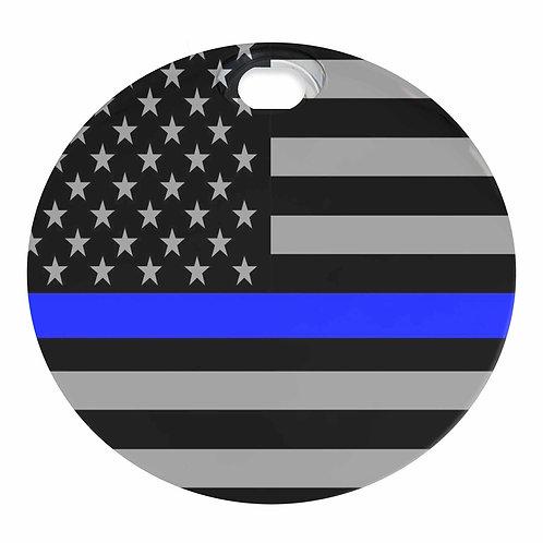 THIN BLUE LINE AMERICAN FLAG (FUEL DOOR)
