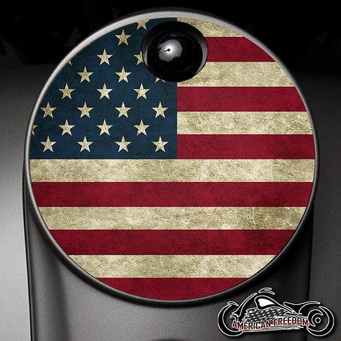 DISTRESSED AMERICAN FLAG (FUEL DOOR)