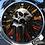 Thumbnail: SKULL CLOCK (ORANGE)