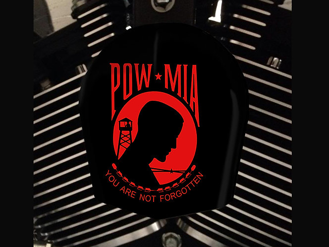 POW MIA RED (HORN)