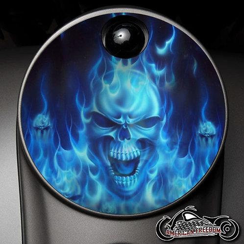 BLUE FLAMES SKULL (FUEL DOOR)