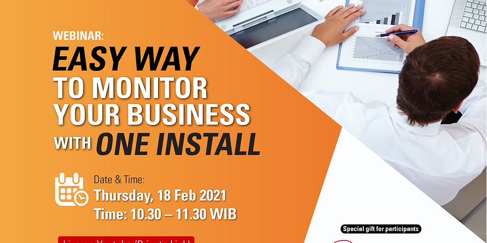 Easy way to monitor your business with one install