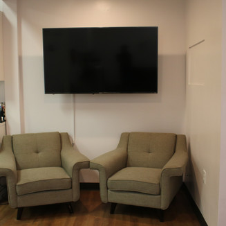 Smart TV and Lounge Chairs