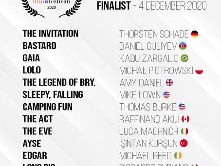 ASFF November 2020 / Finalist Announced!