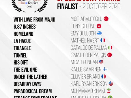 ASFF September 2020 / Finalist Announced!