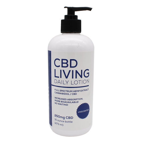 CBD Living Daily Lotion | Unscented