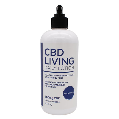 CBD Living Daily Lotion | Eucalyptus