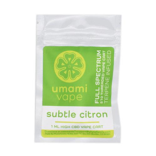 Phyto Family Umami Vape Cartridge | Subtle Citron