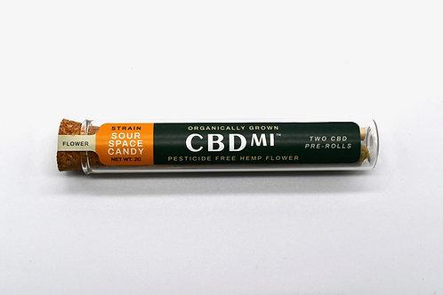 CBDMI Hemp Pre Rolls (2pk) - Sour Space Candy