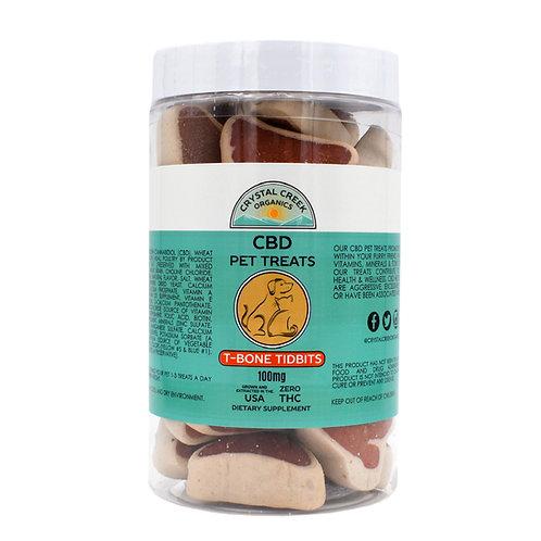 Crystal Creek Organics CBD Pet Treats | T-Bone Tidbits