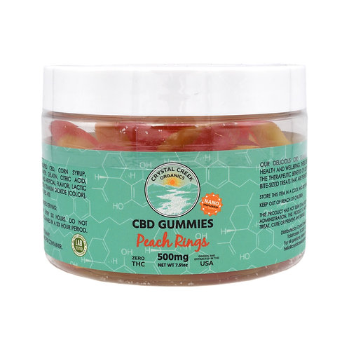 Crystal Creek Organics Gummies | Peach Rings