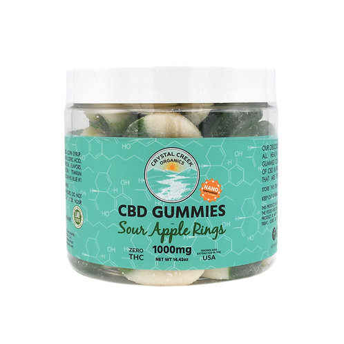 Crystal Creek Organics Gummies | Sour Apple Rings
