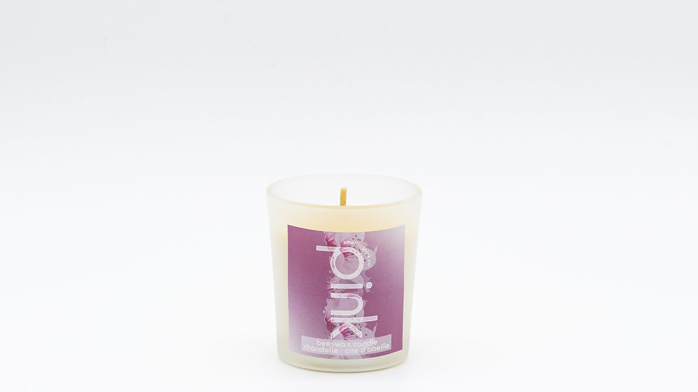 PINK bees wax candle
